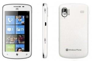 ZTE представит новый WP7-смартфоны на MWC 2012