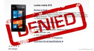 12-мегапиксельного смартфона Nokia Lumia 910 не существует