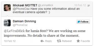Nokia продолжает работать над ПО для камеры Lumia 800