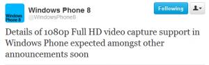 На Windows Phone появится возможность записи видео 1080р
