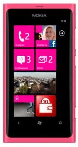 Nokia Lumia 800 цвета фуксии