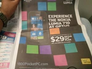 Реклама Nokia Lumia в газете MX