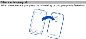Отключение звука при перевороте в новых смартфонах Nokia Lumia