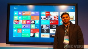 Windows 8 на 82-дюймовом экране