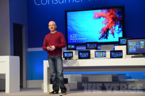 Стивен Синофски на презентации Windows 8 Consumer Preview