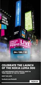Запуск Nokia Lumia 900 на площади Times Square