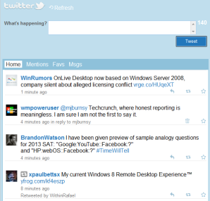 Команда Twitter исправила отображение мобильной версии сервиса для Windows Phone