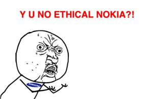 Samsung против рекламы Nokia