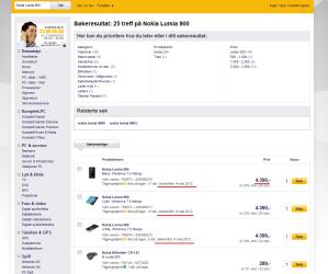 Nokia Lumia 900 в komplett.no за 22,500 рублей