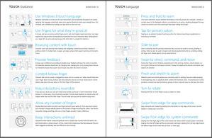 Windows 8 Touch Guidance