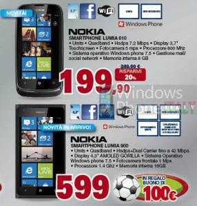 Nokia Lumia 900 и Nokia Lumia 610