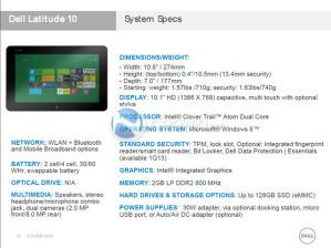 Планшет Dell на Windows 8