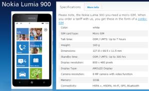 Немецкий оператор O2 начнёт продажи Nokia Lumia 900 с 32 Гб памяти