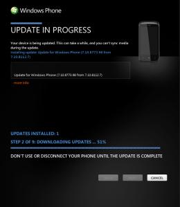 HTC Mozart: обновление Windows Phone c 7.10.8107 до 7.10.8112.7, 7.10.8773.98 и 7.10.8779.8