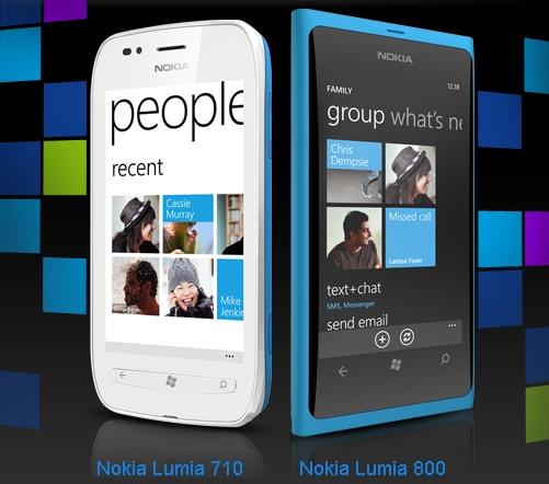 Nokia Lumia 710 и Nokia Lumia 800