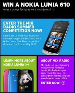 Выиграй смартфон Nokia Lumia 610 на странице Nokia в Facebook
