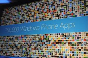 Microsoft официально подтвердили, что в маркете Windows Phone более 100 тысяч приложений