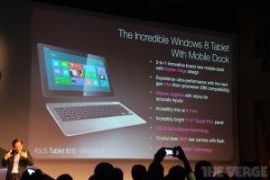 Компания Asus продемонстировала 11,6-дюймовый планшет Tablet 810 с процессором Intel Atom на Windows 8