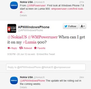Nokia Lumia 900 обновится и получит возможности из WP8 в ближайшее время