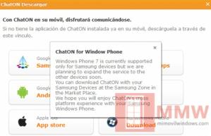 Приложение ChatON от Samsung скоро появится на всех винфонах