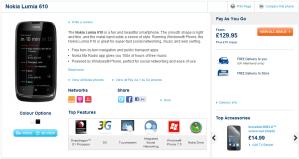 Nokia Lumia 610 продаётся в Carphone Warehouse за 129,95 фунта стерлингов