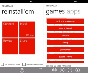 Приложение Reinstaller для Windows Phone обновилось до версии 1.5