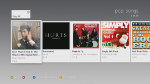 Xbox Music. В данной ветке сервис предлагает мне ознакомиться с произведениями авторов, которых я недавно слушал в жанре Pop