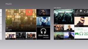 Главный экран приложения музыка на Windows 8