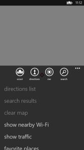 Приложение Nokia Maps показывает ближайшие точки доступа WiFi