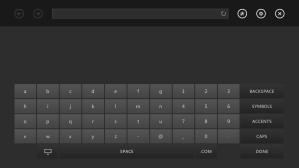 Новая виртуальная клавиатура. Удобнее предыдущей. Однако хочется вводить адрес через смартфон (пока нет поддержки)