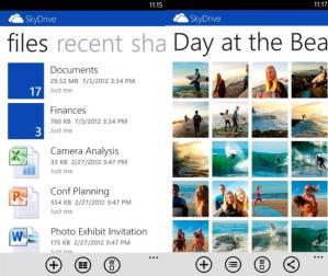 SkyDrive для Windows Phone