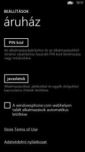 Настройки телефонного кошелька