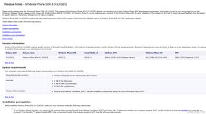 Windows Phone 8 SDK Release Notes