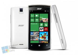 Acer будет выпускать смартфоны на WP8 в 2013 году