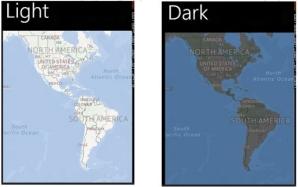 Светлый и тёмный режим карт
