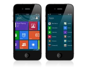 Любительская оболочка Windows 8 для iPhone