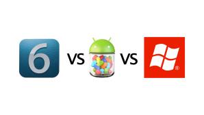 Подробное сравнение Android Jelly Bean, iOS 6 и Windows Phone 8
