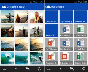 Приложения SkyDrive для мобильных устройств