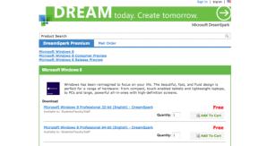 Windows 8 RTM теперь доступна подписчикам DreamSpark Premium