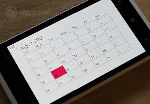 Календарь Windows Phone