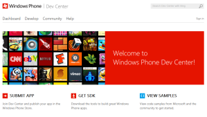 Windows Phone Dev Center