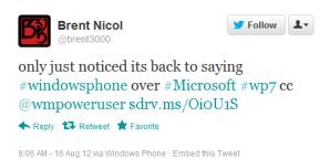 Твиты с Windows Phone