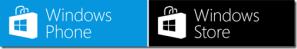 Иконки магазинов контента Windows Phone Store и Windows Store