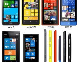 Сравнение габаритов и веса устройств на Windows Phone 8