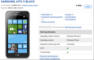 Предзаказ Samsung ATIV S