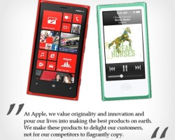 Форма новых плееров Nano и iPod от Apple похожа на Nokia Lumia