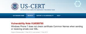 Windows Phone не проходит проверку сертификата Common Name