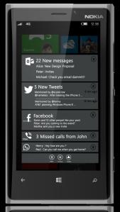 Концепт центра уведомлений в Windows Phone 8