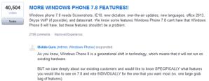 Microsoft интересуется у пользователей, какие функции им хочется видеть в Windows Phone 7.8