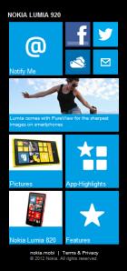 Промо-сайт смартфонов Lumia